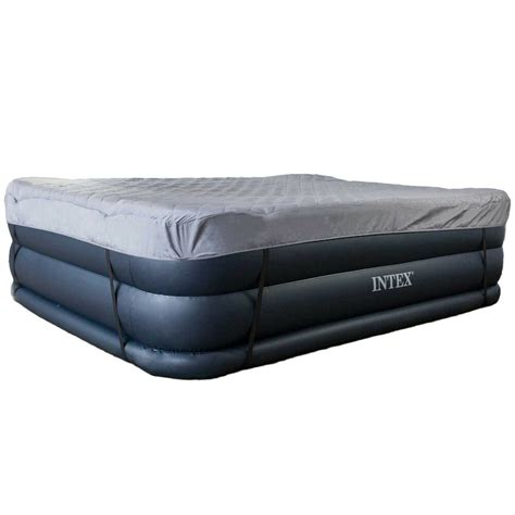 intex raised air mattress bed with built in electric quilted cover 842372126892 ebay