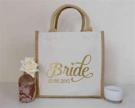Wedding Gift Shopping by Personalised Jute Bag Ideal For A Wedding Gift