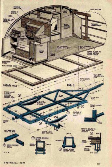 teardrop cer floor plans building plans for 1947 teardrop trailer off gridders