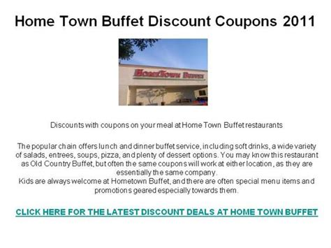 home town buffet discount coupons 2011 authorstream