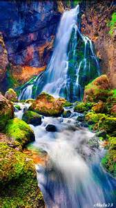 colorful waterfalls lakes nature and the on