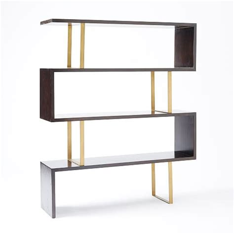 staggered bookshelves staggered bookcase west elm