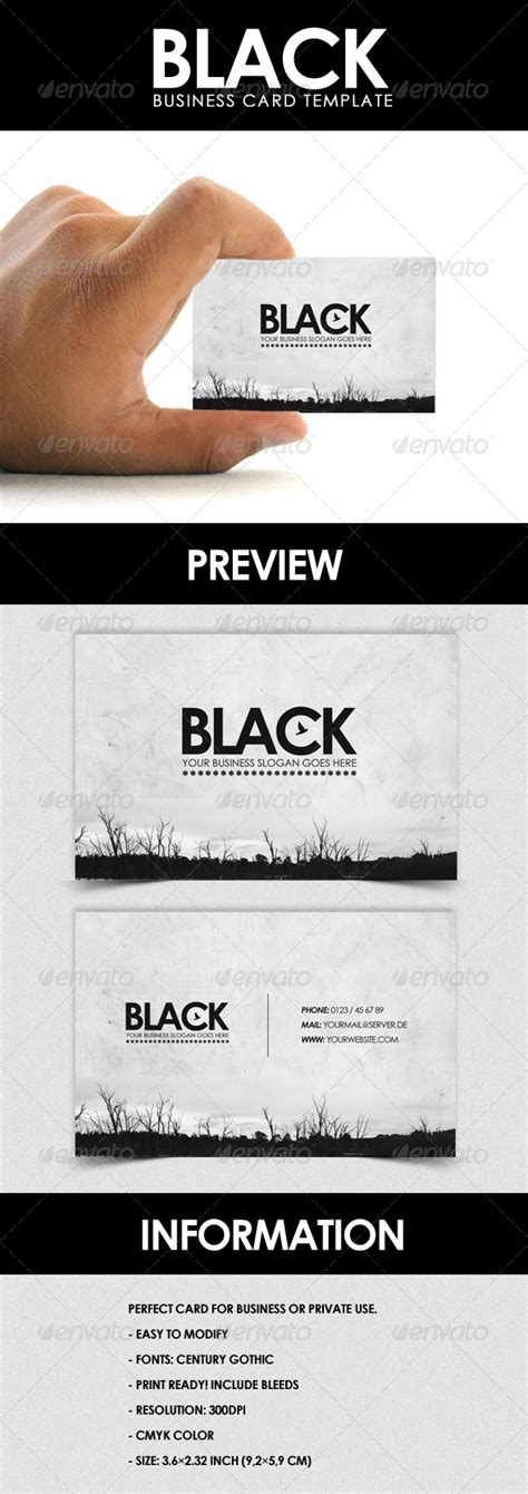 envato business card templates black business card template by foos graphicriver