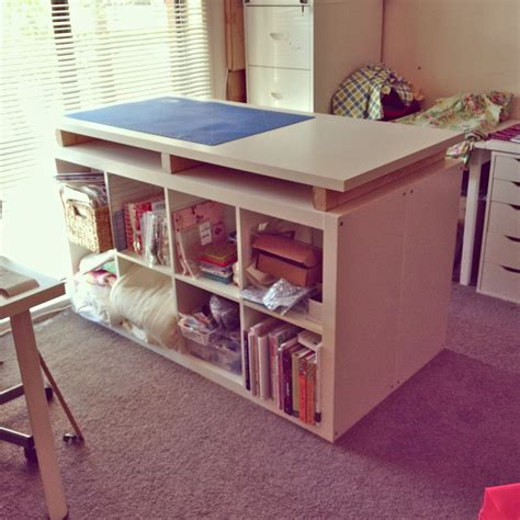 cutting table for sewing room sew busy how to make a storage cutting table combo