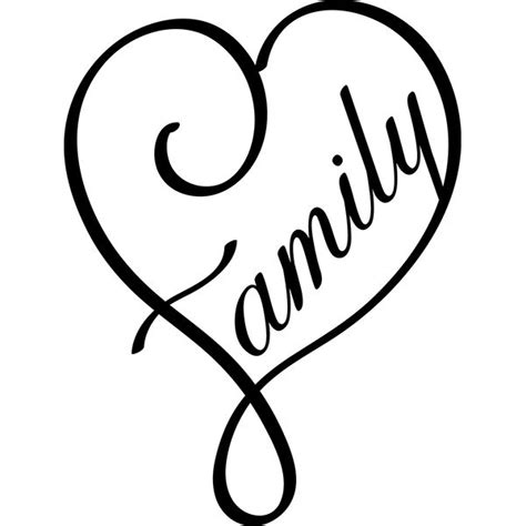 family heart tattoos family digi cuts cricut silhouettes
