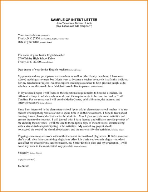 Letter Of Intent Template For Position Letter Of Intent Real Estate