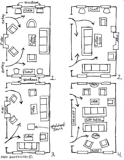 room furniture layout arranging furniture twelve different ways in the same room