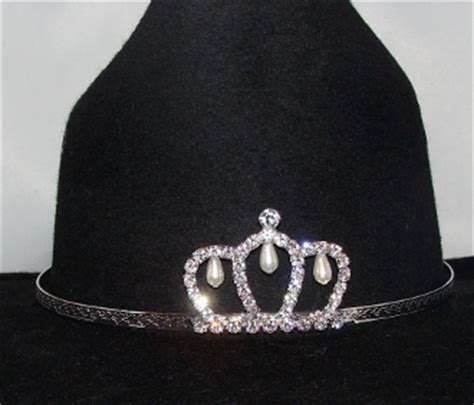 tiara boat hat quot little miss pearls quot rhinestone pearls cowboy hat tiara usa