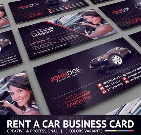 free car rental business card template 56 visually stunning psd business card templates web