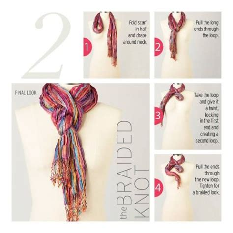 knot twist and drape scarf 10 ways to tie a scarf knot the braided knot fashion