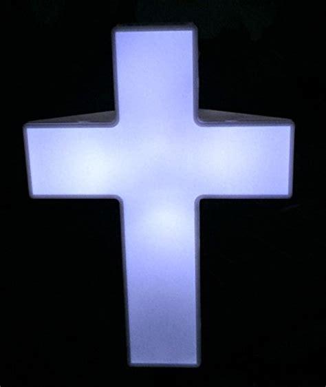 solar light cross solar lighted cross powered by god s light for