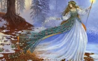 Winter fairy wallpaper wallpaper high definition high quality