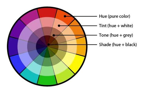 labeled color wheel using colors effectively for web design digital