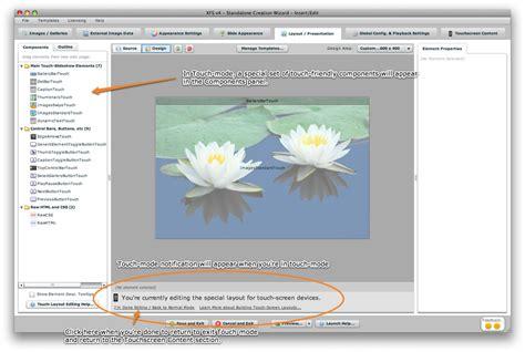lfs layout editing mode xml flash slideshow v4 help