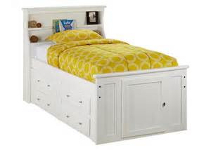 Double Bed With Bookcase Headboard Catalina Twin Wht Bkcs Storage Bed White Twin Beds