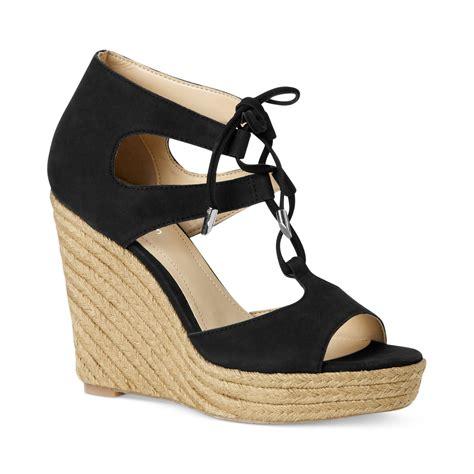 calvin klein wedge sandals calvin klein womens ganessa espadrille platform wedge