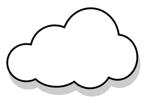 template of clouds free printable cloud coloring pages for