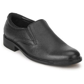 Minarno Black Leather Slip On 001 buy chief black slip on formal leather shoes