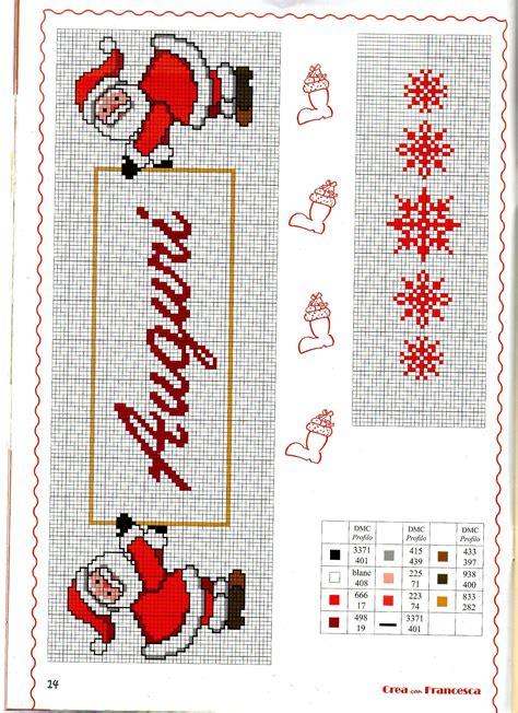 tappeti a punto croce asciugapiatti punto croce natalizio punto croce e
