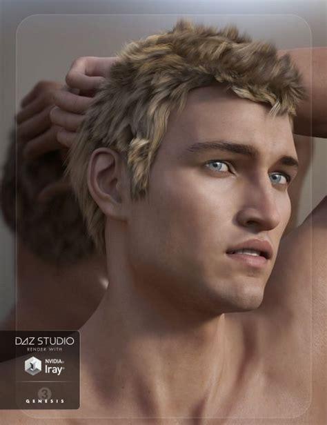 adam genesis adam hair for genesis 3 s 3d models for poser and