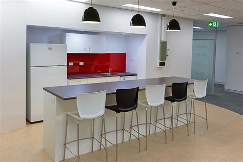 modern office kitchen djo global study interior design and fitout for a
