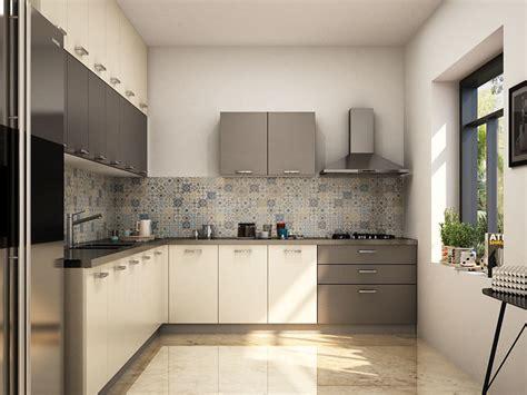 grey modular kitchen designs parallel shaped modular adela l shaped modular kitchen designs india homelane
