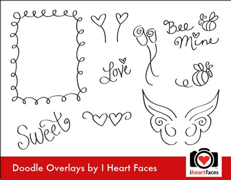 free doodle overlays freebie doodle overlays scrap booking