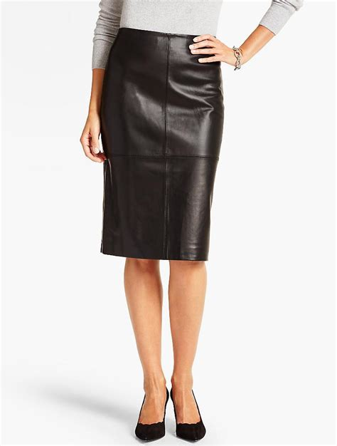 7 Luxe Leather Shirts by Talbots Luxe Leather Skirt In Black Lyst