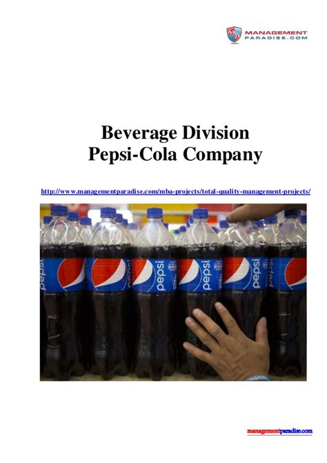 introduction of pepsi slideshare beverage division pepsi cola company