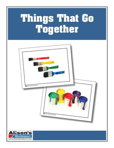 Gift Card Association - montessori materials association cards things that go together