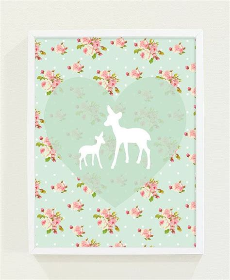 Mint Nursery Decor Mint Green Nursery Pink Floral Deer By Fieldtrip Office Nursery Space