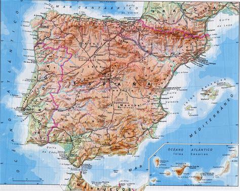 atlas geogrfico de espaa 201 pila sociales 1 mapa f 237 sico de espa 241 a