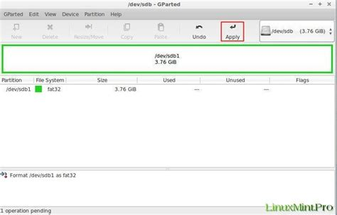 format fat32 linux mint how to correctly format the usb stick in linux mint