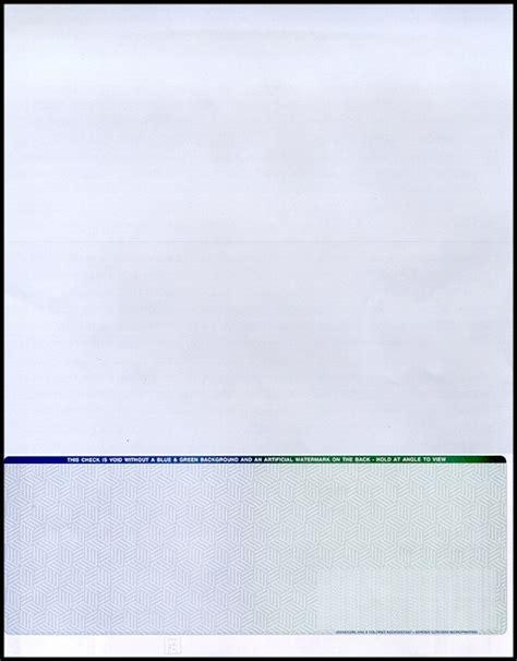 premium bottom check stock paper check 21 compliant