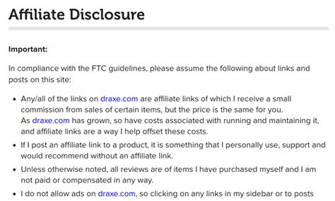 Affiliate Disclosure Dos And Don Ts You Need To Know Now Affiliate Disclosure Template