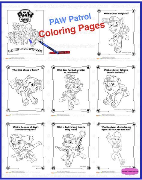 paw patrol thanksgiving coloring pages to print paw patrol birthday