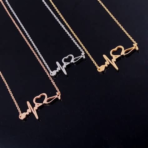 Best Metal For Jewelry Gold Nersels Designer Trendy Gold Jewelry by Popular Stethoscope Heartbeat Buy Cheap Stethoscope