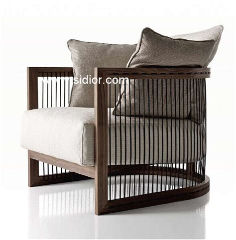 single wooden sofa single sofa drawing