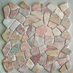 mosaic pebble tiles sliced pebble tiles standing pebble