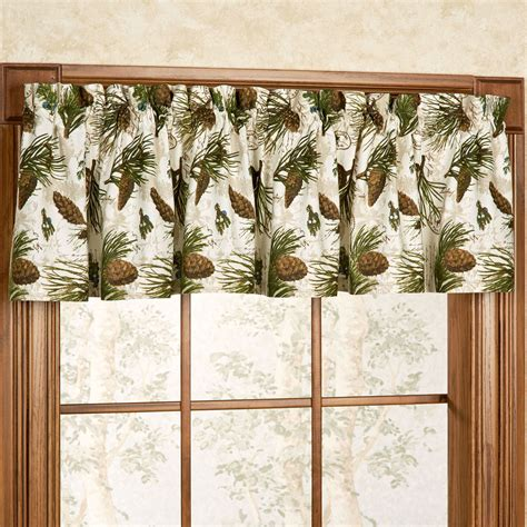 pinecone curtains walk in the woods pine cone window valance
