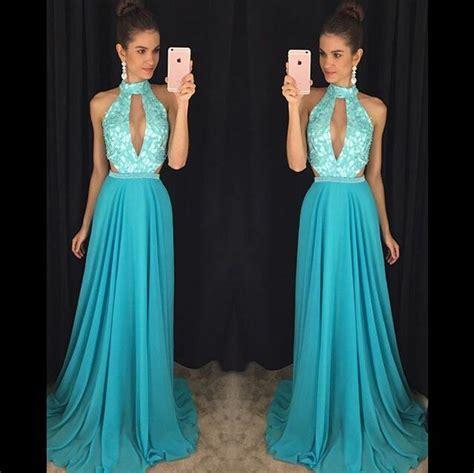 C Sale Halter Knit Dress Pink Navy Merah Dress Cewek halter neck chiffon prom dresses lace appliques dresses on luulla