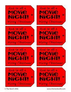 printable amc movie tickets merry movie night printable gift tag for a movie night