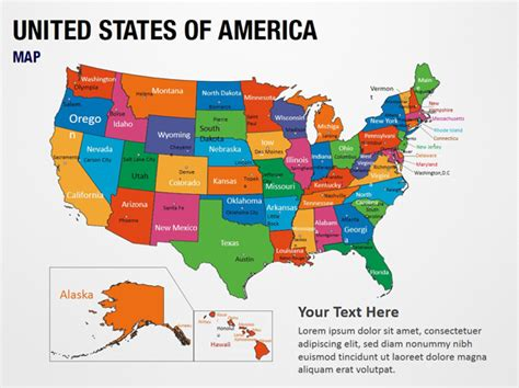 us map of states for powerpoint united states of america map powerpoint map slides
