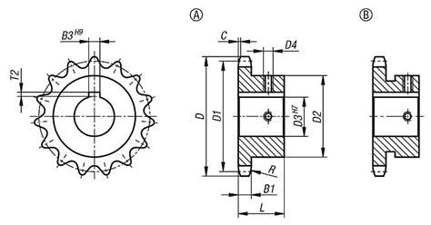 seleccion de cadenas y sprockets norelem pi 241 ones simples 3 8 x 7 32 din iso 606 listos