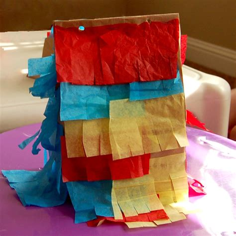How To Make A Paper Bag Pinata - monday craft paper sack pi 241 ata scattered thoughts of a