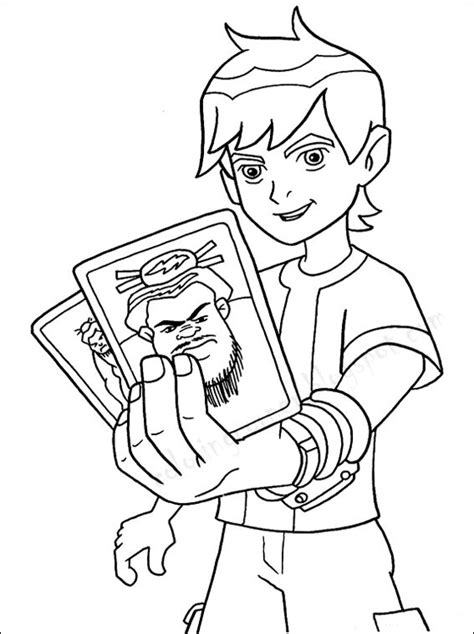 Kids Page Ben 10 Coloring Pages Coloring Ben 10