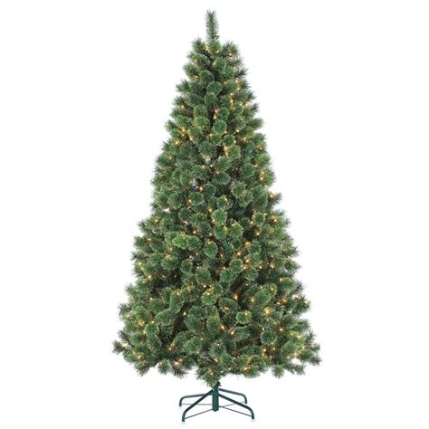 sterling christmas tree lights sterling 7 ft pre lit hard needle deluxe cashmere