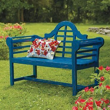 grandin road bench blue bench ogrodowe ławki krzesła stoły pinterest
