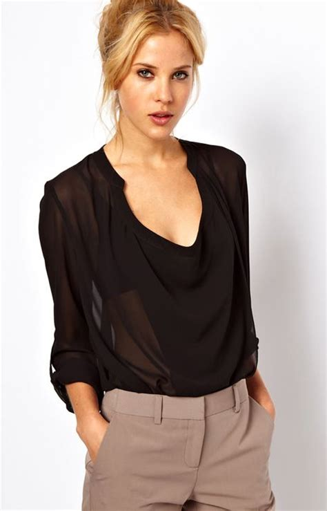 Black Sheer Blouse by Tops New Sheer Black Blouse 2015