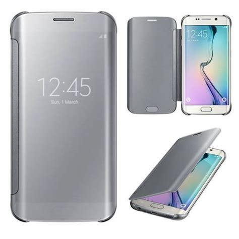 Promo Ekslusif Promo Samsung Note 7 Mirror Cover Flip For Samsu housse galaxy s6 edge plus etui clear view transparent